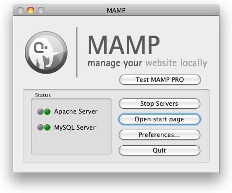 Install Apache PHP and MySQL for Mac OS X instantly with MAMP