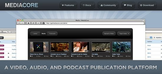 mediacore open source podcast platform