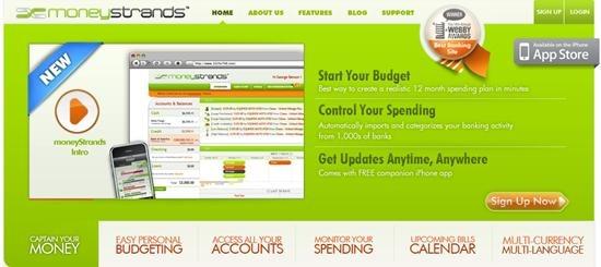 moneyStrands personal finance software