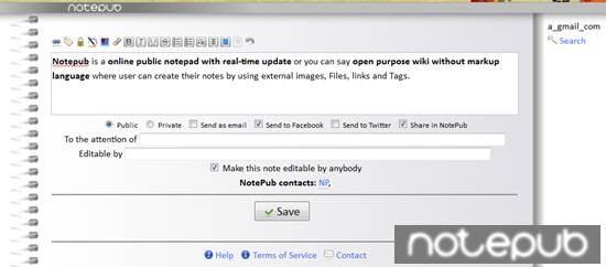 Notepub online note taking apps