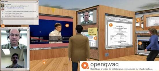 openqwaq 3D virtual collaboration platform