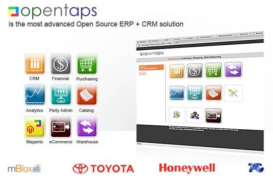 Opentaps - web based ERP and CRM application suite