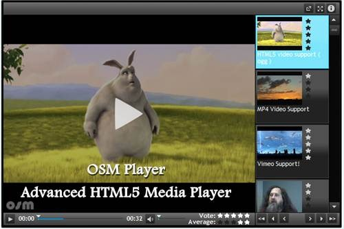 OSM Player - Advanced HTML5 Media Player