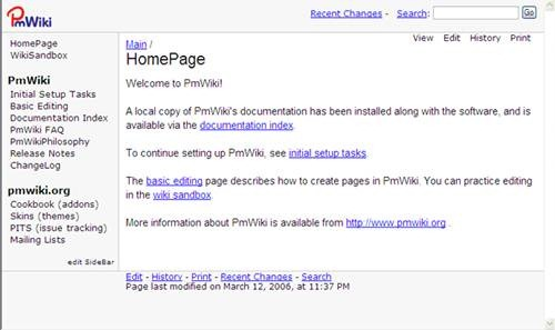 pmwiki 17 open source wiki engine/software