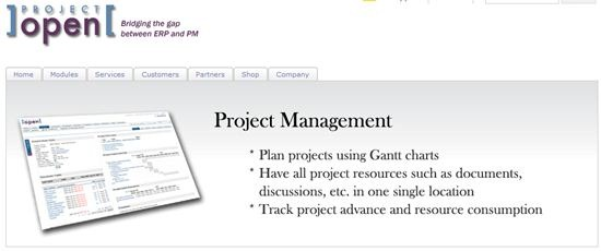 project-open project and service management system