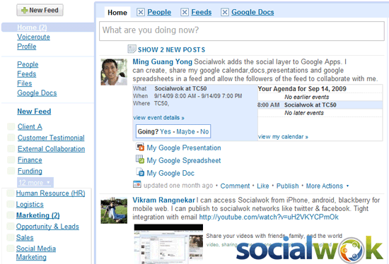 Socialwok - feed based social productivity and collaboration tool