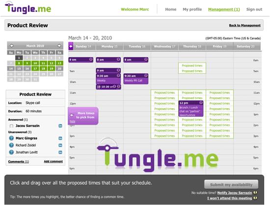 tungle-calendaring-app