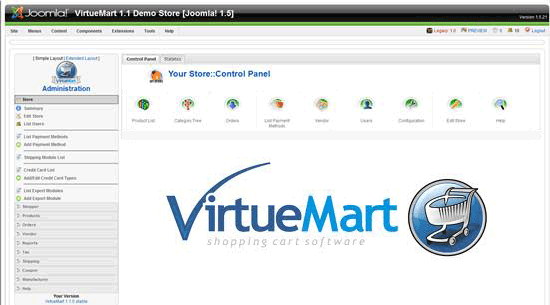 VirtueMart - Free Shopping Cart Software for Joomla