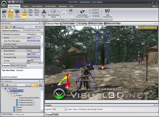 Visual3D.NET - 3D Simulation and Game Development platform