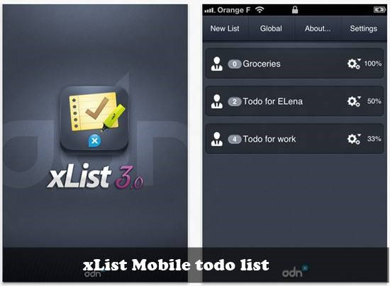 xList mobile to-do list : 20 most useful Mobile To-Do List manager for iPhone