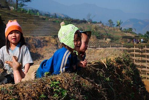 Kids in North Vietnam