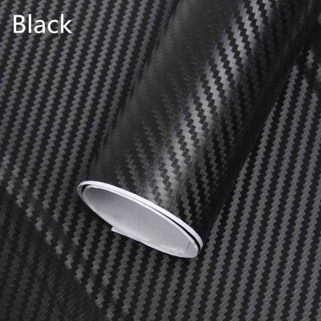 3D Black Carbon Fiber Film For Car