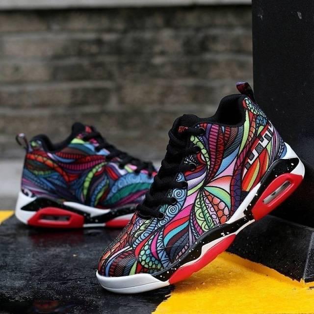 Men/ Women Air Cushion Basketball Shoes Running Tennis Shoes Fashion Sneaker