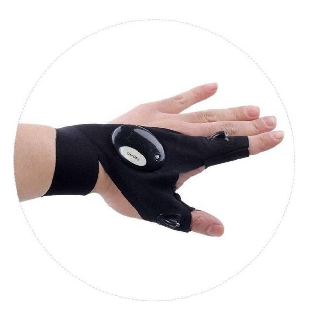 Night Running Gloves with Lights