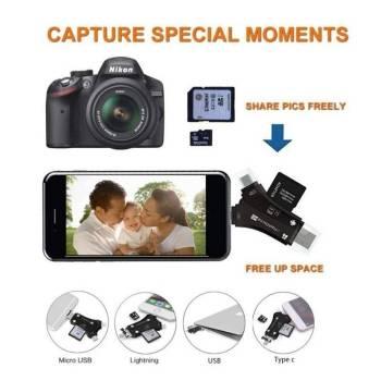 5b8e4ec429cf693e7784ea76 15 larg iPhone/Micro Usb/USB Type-c/USB SD Card Reader