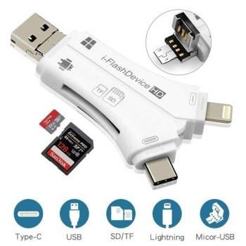 5b8e4ec429cf693e7784ea76 17 larg iPhone/Micro Usb/USB Type-c/USB SD Card Reader