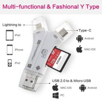 5b8e4ec429cf693e7784ea76 18 larg iPhone/Micro Usb/USB Type-c/USB SD Card Reader