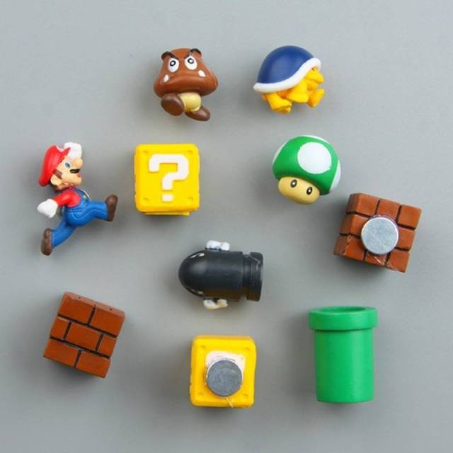 Super Mario 3D DIY Fridge Refrigerator Magnet