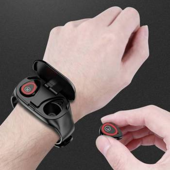 2 in 1 Sports  Smart Watch with Earbud IOS + Android