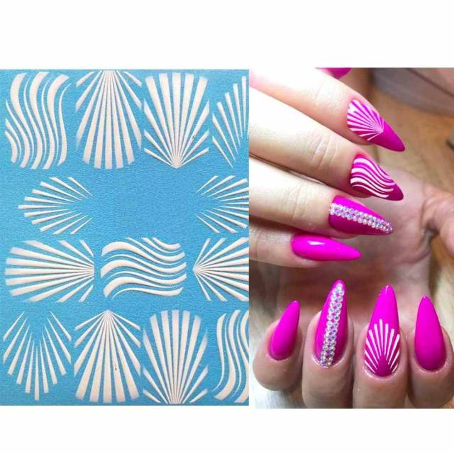 3D Acrylic Art Engraved  Nail Sticker