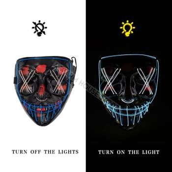 HTB1ehvOaFY7gK0jSZKzq6yikpXaO Halloween Party Led Mask  - Super Cool  Halloween Accessories