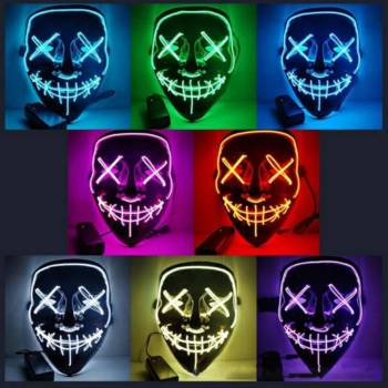 Halloween Party Led Mask  - Super Cool  Halloween Accessories
