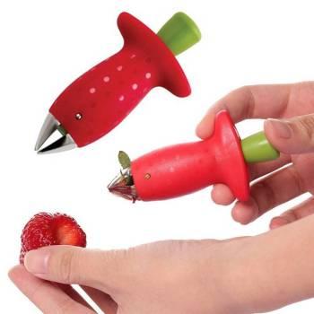 Strawberry Hullers Metal Plastic Fruit Leaf Remover Gadget Tomato Stalks Strawberry Knife Stem Remover Kitchen cooking 5 Strawberry Stem Huller Fruit Leaf Remover Gadget