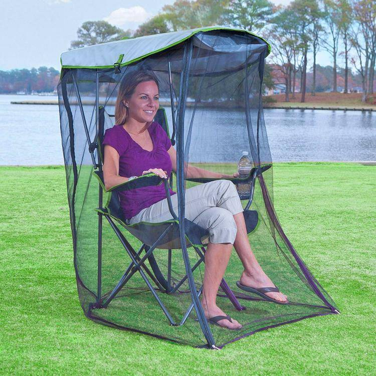 this genius canopy chair with a screen protects you from the sun and mosquitoes 3902 Awesome Canopy Chair With Mosquito Protector