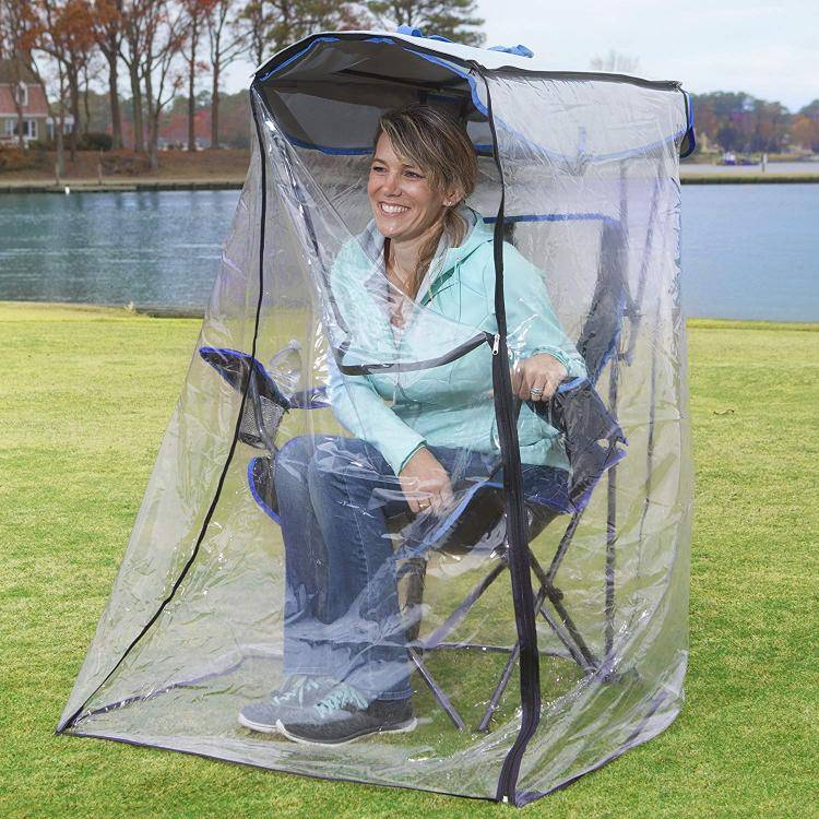 this genius canopy chair with a screen protects you from the sun and mosquitoes 9324 Awesome Canopy Chair With Mosquito Protector