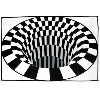3D Swirl Print Optical Illusion Areas Rug Carpet Floor Pad Non slip Doormat Mats for Home 3 3D Vortex Illusion Rug