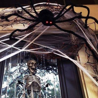 H1f3e5511f6ed41249346abe91accf1cdo Scarry Black Spider Halloween Decoration