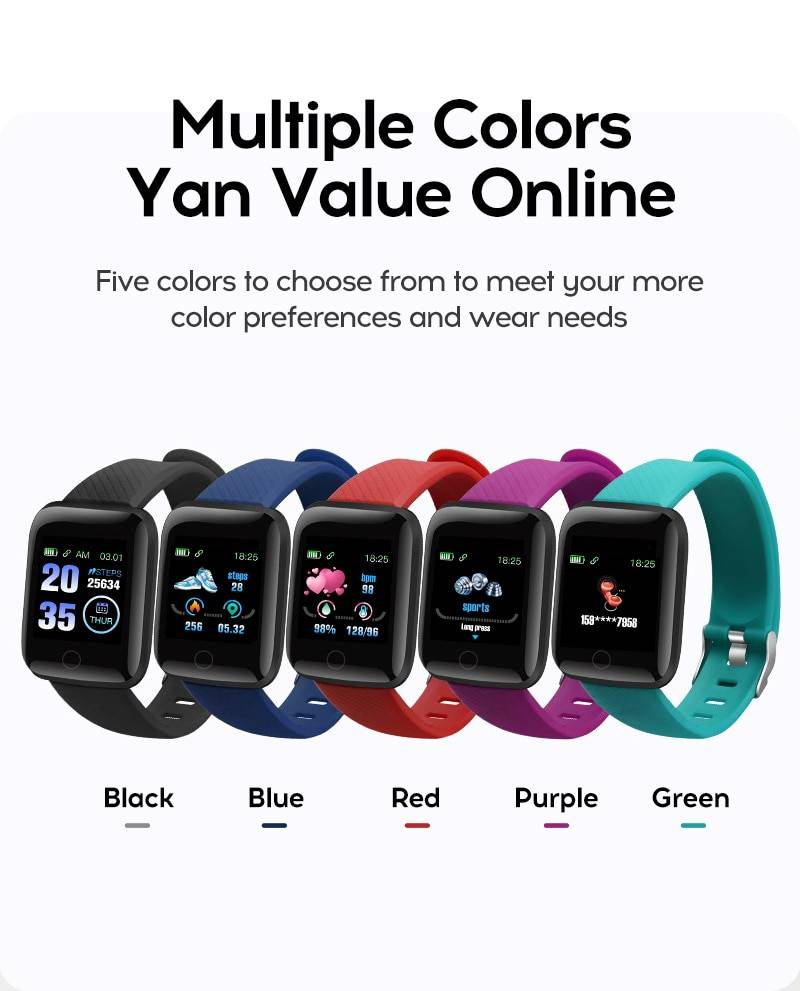 H9fbfd684147d412395bffc36c48a4d55v Fitness Tracker Watch  Waterproof Sport For Android IOS