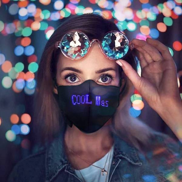 LED Luminous Mask Mobile Phone APP Gadkit