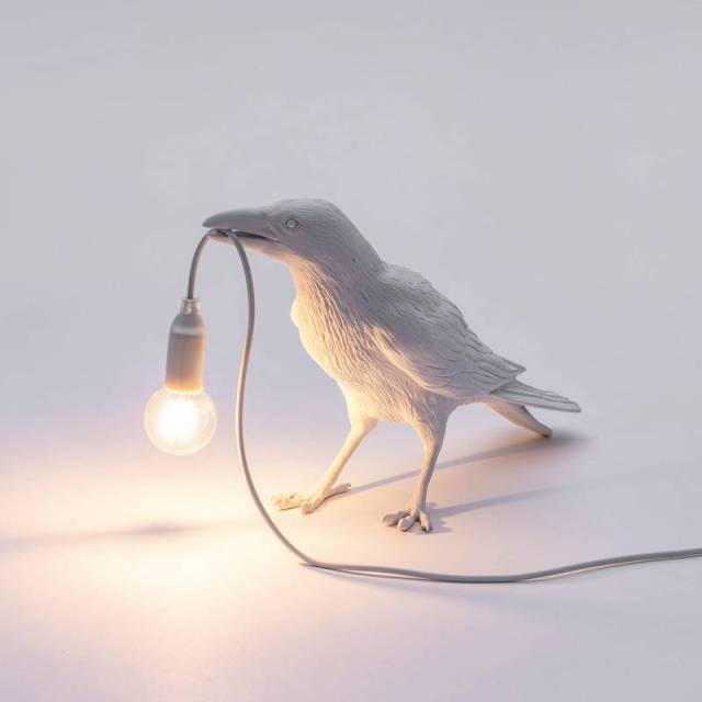 Cool Table And Wall Crow Light