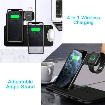 Fast Wireless Charger Stand For iPhone amp Apple Watch Dock Station Gadkit 1 Fast Wireless Charger Stand For iPhone  & Apple Watch Dock Station
