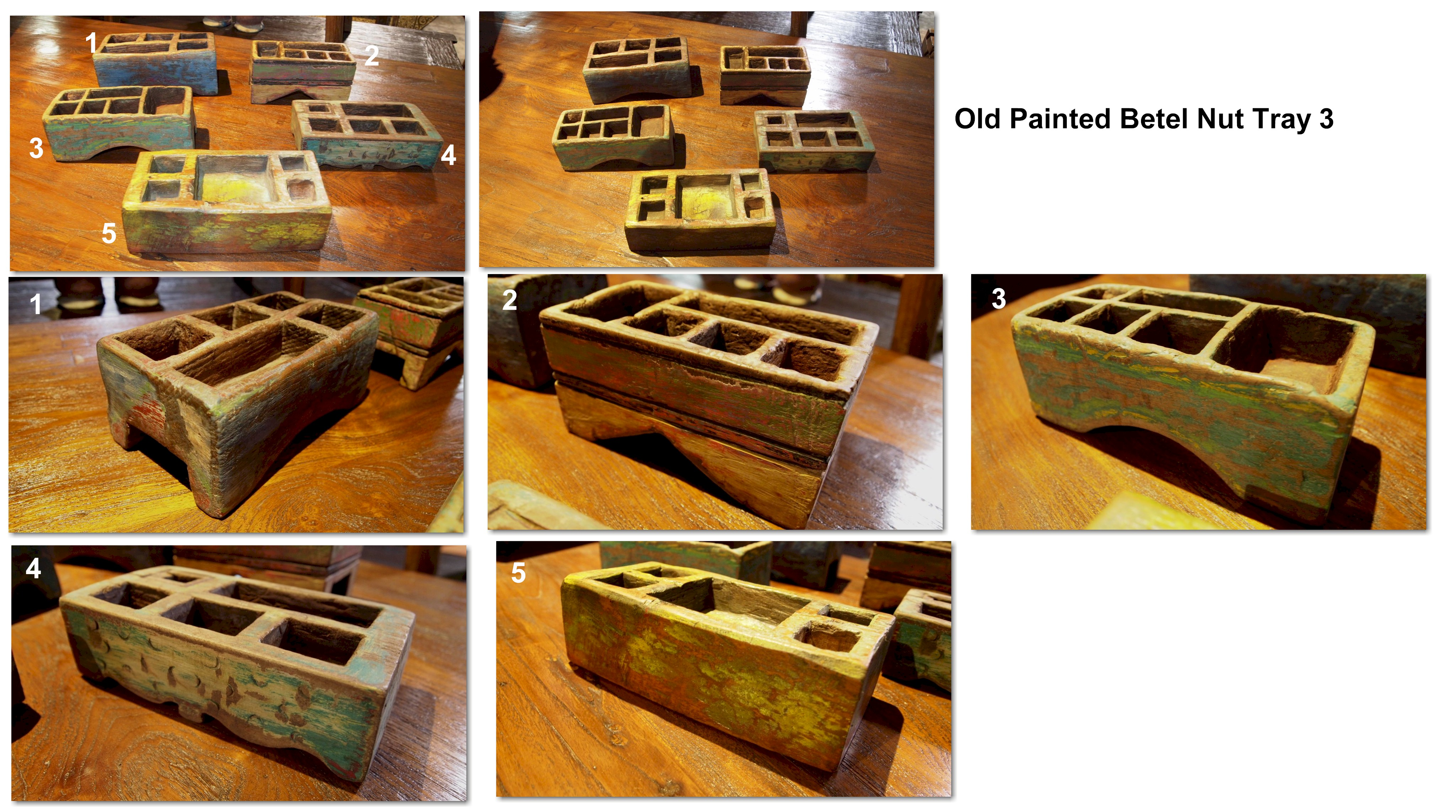 Old Painted Betel Nut Tray 3