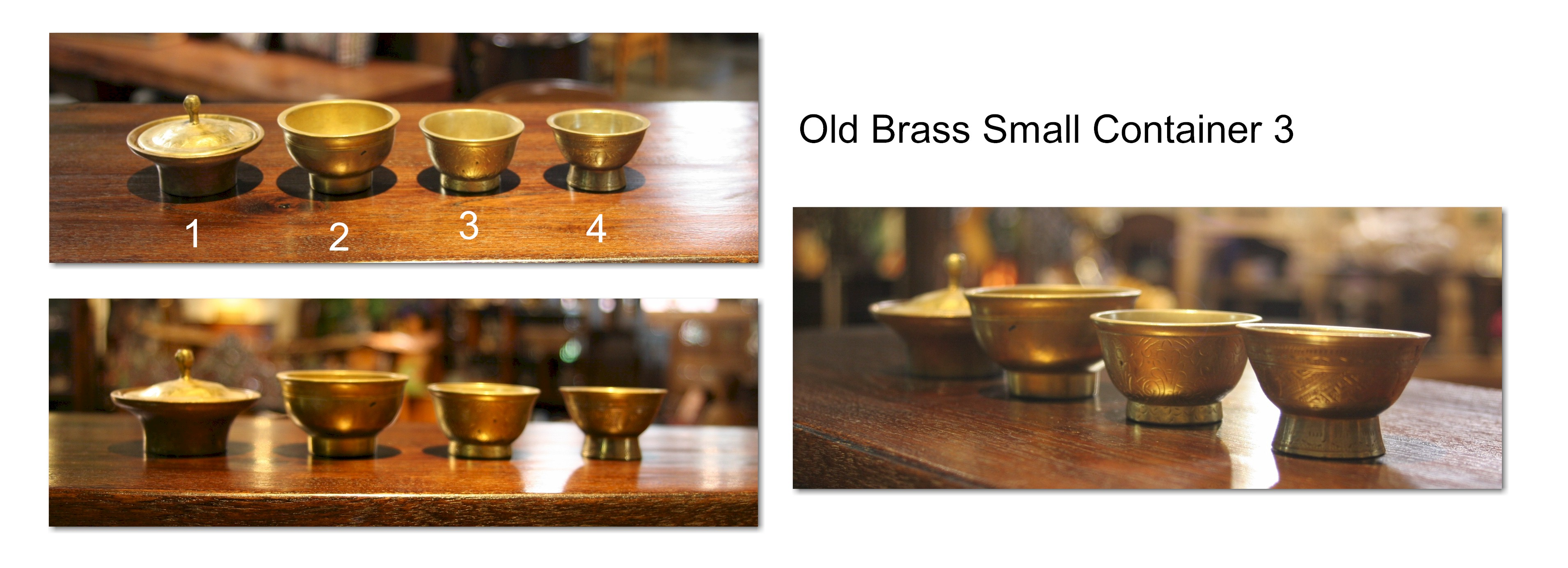 Old Brass Small Container 3