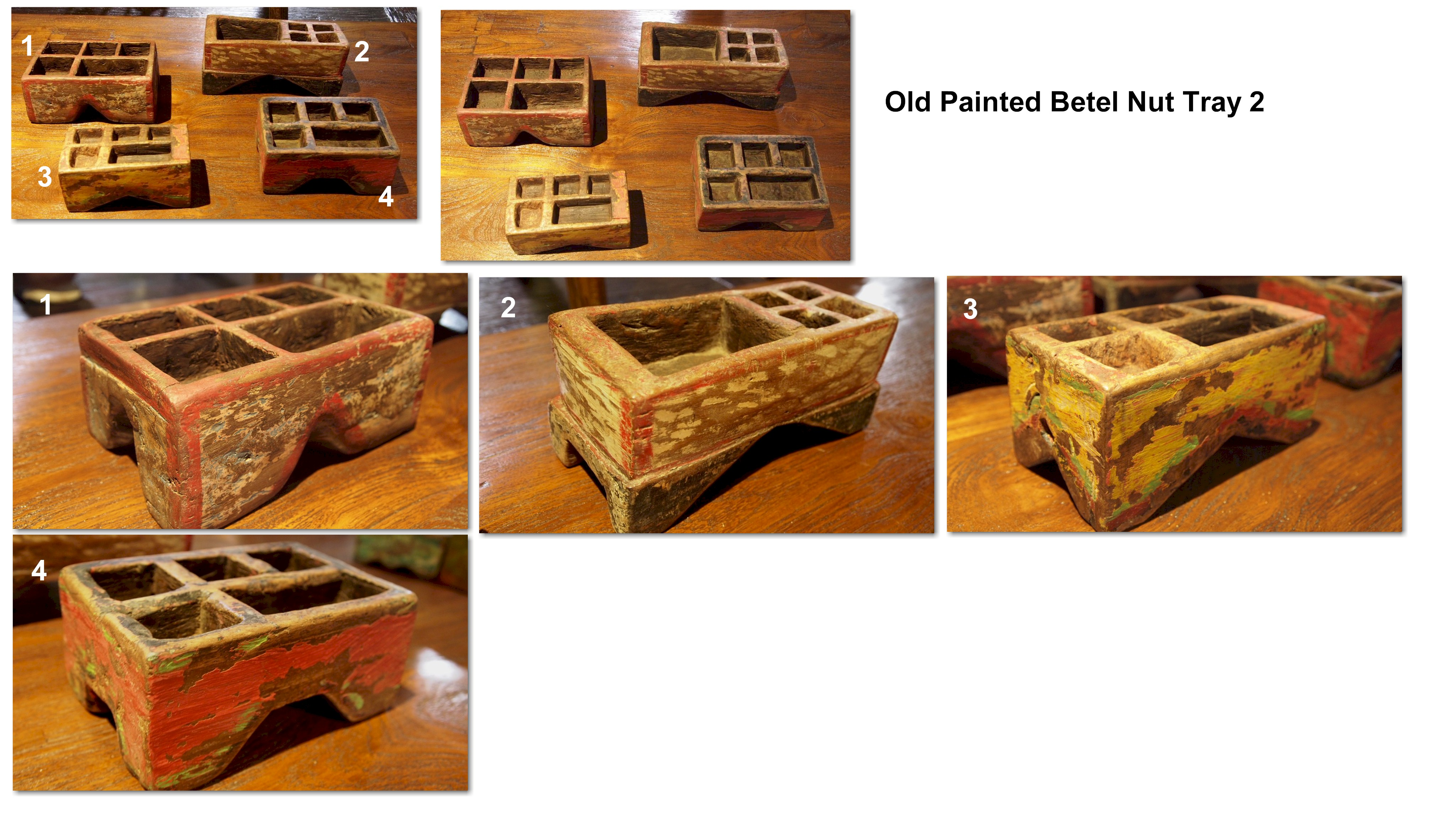 Old Painted Betel Nut Tray 2