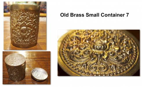 Old Brass Small Container 7