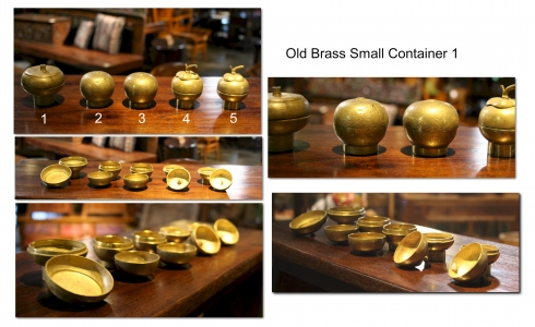 Old Brass Small Container 1