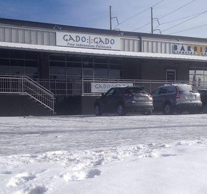 Snow falls at Gado Gado.