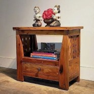 Open Shelf Reclaimed Teak Nightstand
