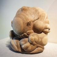 Large Weeping Yogi Balinese Wood Carving
