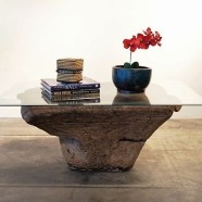 Old Mortar Base Coffee Table
