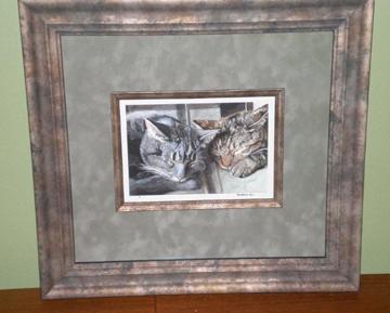 Kitties framed