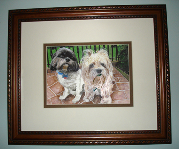 Rosie and Sonny ~ Framed.