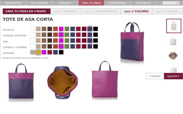 Crea tu propio bolso, combinando colores. en myLACAMBRA.com