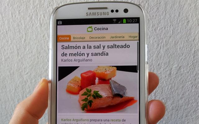 App de Hogarutil con las recetas de Karlos Arguiñano