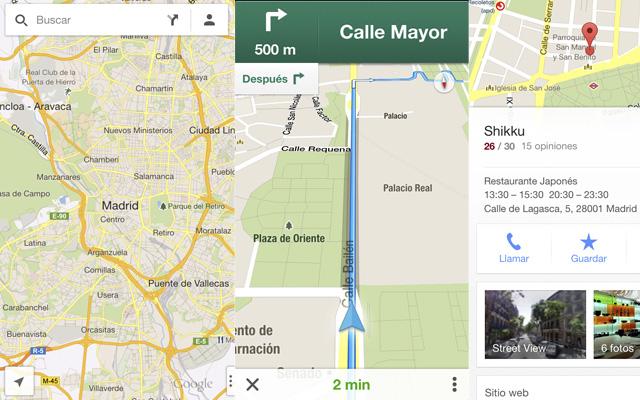 Google Maps está disponible para sistema operativo iOS.