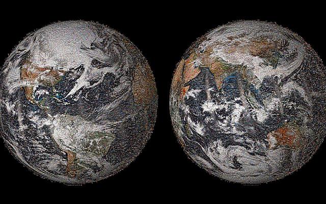 Global selfie mosaic Nasa